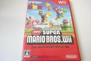Wii New SUPER MARIO BROS RVN-SMNJ-JPN-1 Nintendo Game Soft Action