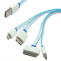 Cable Adapter USB Male to Micro USB + micro USB B + 8 / 30 Pin iPhone iPod iPad