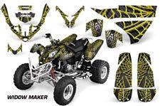 Atv Gráficos Kit Pegatina Para Polaris Predator 500 2003-2007 Widow Maker Yellow