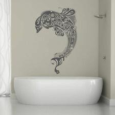ik1324 Wall Decal Sticker stimpank Sea dolphin bathroom living room bedroom