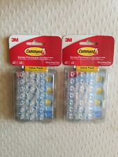 3M Command 40pk Clear Small Decorative Hooks 2 packages