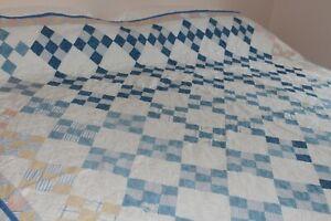 Vintage Cotton Hand Stitched Patchwork Quilt 72x76
