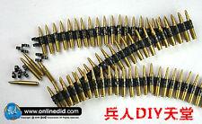 DID DML 50PC bullet chain F 7.62 caliber SS WWII MG42/34 metal machine 1/6 MODEL