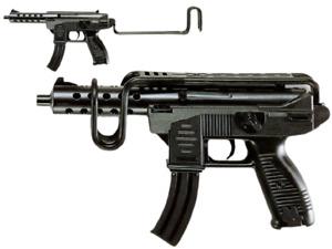 Uzimatic + 208 Schuss Maschinengewehr Maschinenpistole 51 cm Uzi Agent Polizei