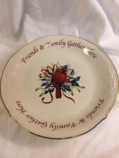 LENOX Winter Greetings FRIENDS AND FAMILY GATHER HERE DESSERT PLATTER 12""