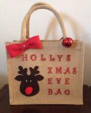 Personalised Christmas Eve Jute Bag/ Christmas Eve Box/Gift Bag