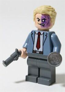 LEGO BATMAN DARK KNIGHT TWO FACE MINIFIGURE FIGURE - MADE OF GENUINE LEGO PARTS