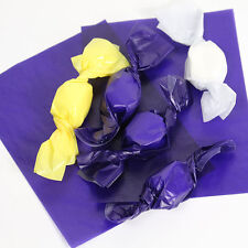 """Purple Wax Candy Wrappers -for caramels & taffy -  Purple 4""""x5"""", 1 lb. package"""