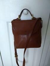 Auth Coach Vint British Tan Leather Flap Shoulder Bag 4158
