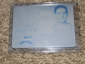 2014-15 In The Game Heroes & Prospects Terry Sawchuk Printing Plate Cyan 1/1