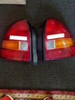 HONDA CIVIC HATCHBACK EK MODEL 1996 99 PAIR STANLEY OEM TAIL LIGHTS PAIR USED