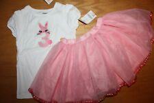 "NWT Gymboree Birthday Shop 3T Set Pink Bunny ""3"" Shirt Top Pink Tutu Skirt"