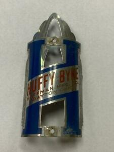 original HUFFY BYKE bicycle Head Badge emblem Huffman Mfg Co Dayton Ohio
