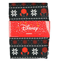 DISNEY Minnie Mouse Holiday Leggings sz S / M Small Medium Black Red Christmas