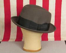 7979c83abc6 Vintage Brooks Brothers Wool Felt Fedora Hat Dark Gray Size 7 1 8 Very Nice