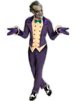 Deluxe Adult Licensed Batman The Joker Mens Fancy Dress Costume Halloween + Mask