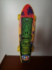 "Wet Willy & Flame Boy Penny Skateboard Green Tiki - World Industries 21"" x 6"""