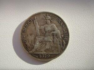1879 FRENCH COCHIN CHINA 20 CENTS