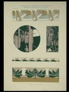 ART NOUVEAU, ALBERT WEISGERBER - 1903 LITHOGRAPH - LANDSCAPE