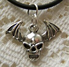 GOTHIC ~  SMALL_SCULL_WITH_WINGS  ~ NECKLACE -- (GREAT_CHRISTMAS_GIFT)
