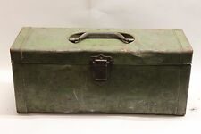 Hobart Spillproof Tackle Box Unique Patent Handle Lock 100 years old