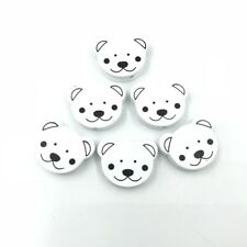 Bear Wooden Beads Baby Pacifier Clip Spacer Bead Beading Accessories 24mm