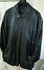 USED Black with White Stiching Leather Marc Buchanan Jacket (Pelle Pelle)