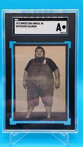 HAYSTACKS CALHOUN 1973 Wrestling Annual #6 Hand Cut SGC AUTHENTIC