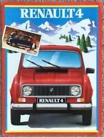 RENAULT 4 RANGE Car Sales Brochure 1985 #24 110 08 GERMAN TEXT