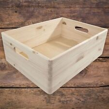 Large Wooden Decorative Crate Box Storage Chest Keepsake Craft Decoupage Pine