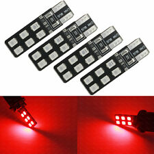 4-pc Red Error Free T10 2825 W5W LED Bulbs For Car Parking City Eyelid Light 2B