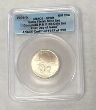 2009 D Anacs SP69 Satin Finish mint set First Day Of Issue guam statehood Qrt