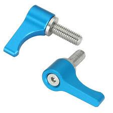 2X Metal M5 Threaded Knob Blue L Screw for FOTGA DP500 II Follow Focus Rod Clamp