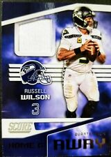 2019 RUSSELL WILSON 🔥GAME JERSEY🔥 ((HOME & AWAY)) Panini Score #A-2  Seattle