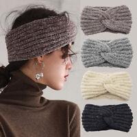 Women Handmade Woven Headband Cross Knotted Knitted Corduroy Warm Ear Hair Bands