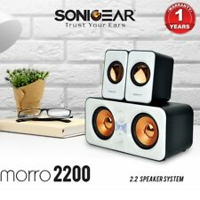 Computer Speakers SonicGear Morro 2200 USB Powered Subwoofer PC Speakers White