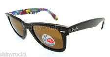 Authentic RAY-BAN Polarized Wayfarer Limited Ed Sunglass RB 2140 - 113257  *NEW*