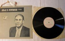 Adlai Stevenson/Dwight Eisenhower-LP 1956 US-convention record a 2 PIN