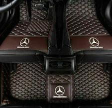 For Mercedes-Benz 2004-2020  Waterproof Front & Rear Car Floor Mats Coffe