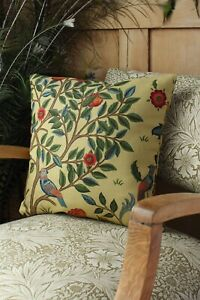 William Morris Cushion Cover Kelmscot Tree Forest Gold