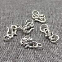 5pcs of 925 Sterling Silver S Hook Clasps for Bracelet Necklace
