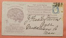 1870S PHRENOLOGICAL JOURNAL BROADWAY NY CITY ALLOVER MEDICAL ADVERTISING