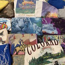 New ListingLot 15 T-Shirts Men's Unisex Animals Nature Vintage Wholesale Bundle 90s 2000s