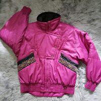 VTG White Stag Women's Western Pink Ski Jacket Vintage Skiwear Size L