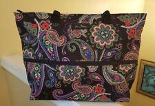 VERA BRADLEY Expandable Travel Tote Kiev Paisley Shoulder Bag  $88 New w Tags