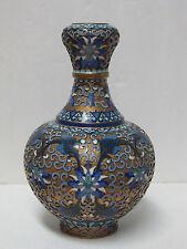 Fine Old Chinese Floral Design Gold Gilt Cloisonne Vase
