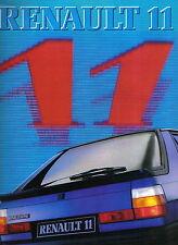 Renault 11 TC GTL TL TSE 1983 Original Dutch Sales Brochure Pub. No. 2310311