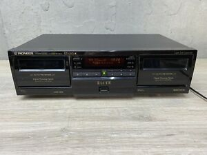Pioneer Elite CT-05D Dual Cassette Deck Player Recorder - Tested - 08/1997 HTF