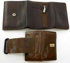 Lot of 2 VTG Mens Leather Accessories Wilsons Leather Wallet & Rolfs Keyholder!
