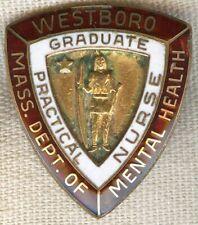 1958 Massachusetts Dept. of Mental Health, Westboro Nurse Graduation Pin